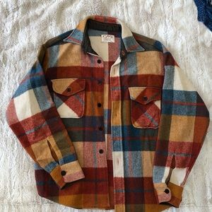 Vintage wool button up